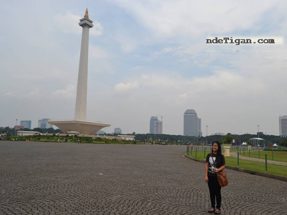 Monas with the lanscape