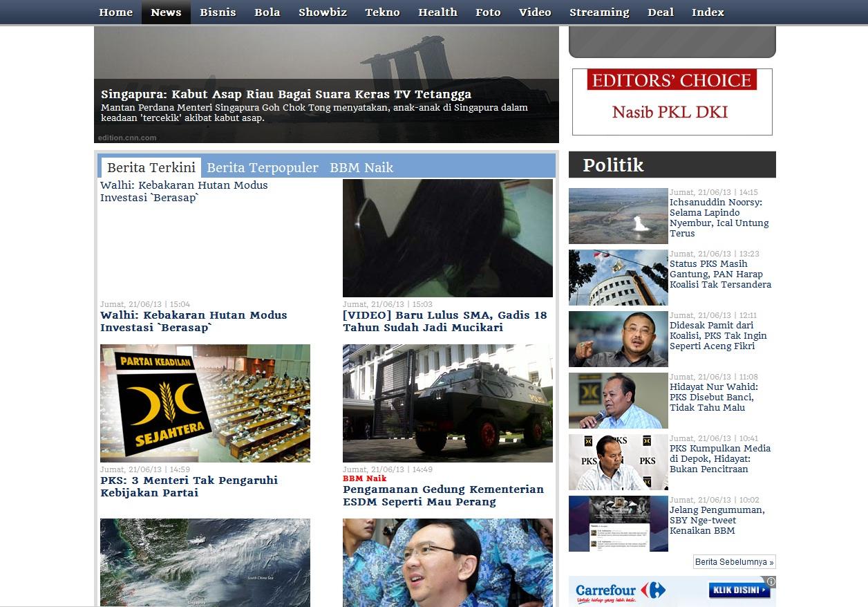Laman portal berita terkini Liputan6.com